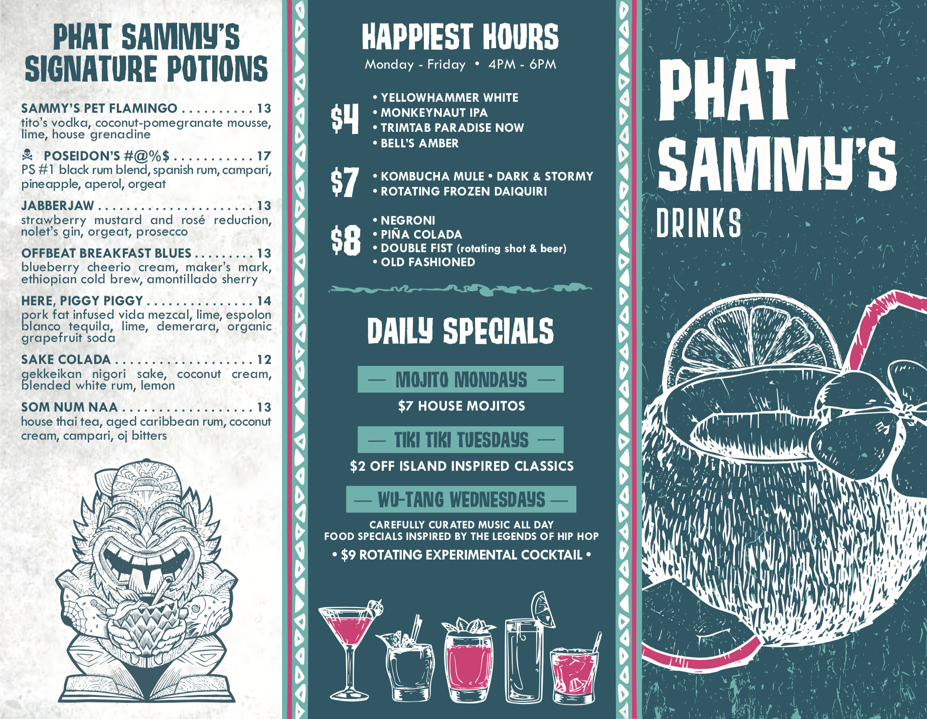 Phat Sammy's Drink Menu_07.2020_ Front